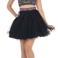 Prom Short Two Piece Homecoming Dresses