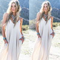Boho Ladies Long Maxi Evening Party Chiffon Beach Dresses