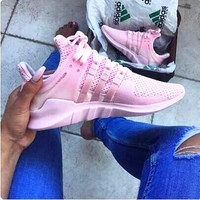 """Women """"Adidas"""" Equipment EQT Support ADV Pink Casual Sports Shoes Pink"""