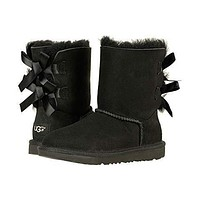 UGG Bow Leather Shoes Boots Winter Half Boots Shoes