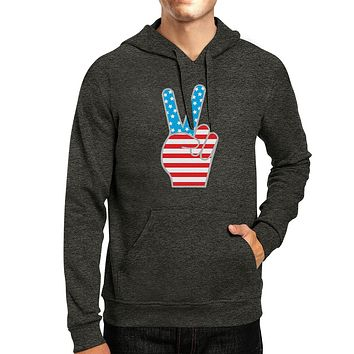 Peace Sign American Flag Unique Design Hoodie For 4th Of July