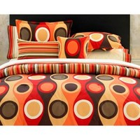 City Scene Retro Radar Red Duvet Set - Teen & Tween Bedding at Hayneedle