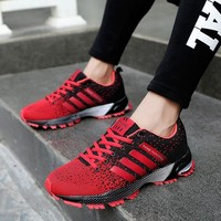Ready Stock !Adidas Air Max Men's/Women Outdoor Flyknit Breathable Sneakers Couple Sportrunning Kasut