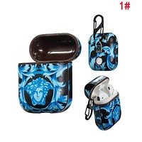 VERSACE Fashion Cool AirPods Bluetooth Wireless Earphone Case Protector (No Headphones) 1#