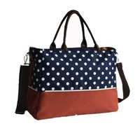 LCY Simple Classical Baby Diaper Bag Blue