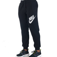 AW77 FLEECE CUFF LOGO PANT - Black - NIKE CLOTHING