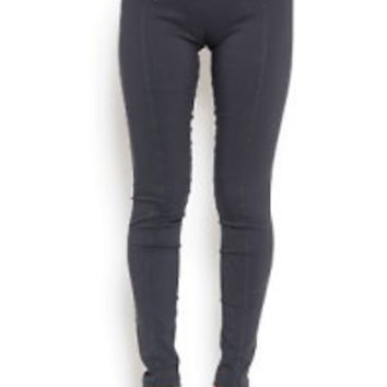 buttoned skinny pant