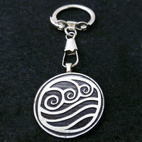 Avatar Water Bender Keychain by boxinghobo on Etsy