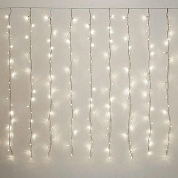 LED Curtain Lights Multi-Function, White, 6-feet, 200 LED