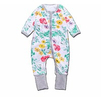 Baby Girls Clothes Floral Print Rompers For Girls Long Sleeve Baby Jumpsuit born Clothing Winter