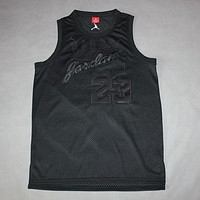 kaat Chicago Bulls Michael Jordan Commemorative Edition All Black Jersey