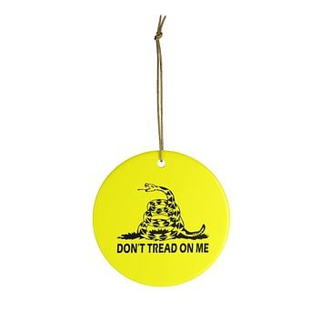 Don't Tread On Me Christmas Ceramic Ornament