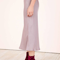 Kimchi Blue Heart Patch Satin Slip Midi Skirt - Urban Outfitters