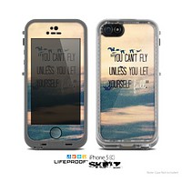 "The Pastel Sunset ""You Cant Fly Unless You Let Yourself Fall"" Skin for the Apple iPhone 5c LifeProof Case"