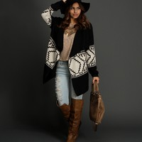 Sale-black Give Me Chills Cardigan