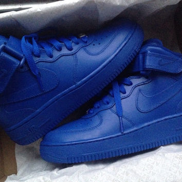 Nike Air Force 1 Custom Red Or Blue From Footsoldiercustoms On