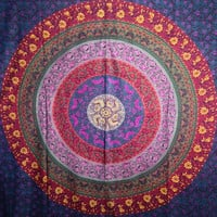 Twin Hippie Tapestry giveaway , Hippy Mandala Bohemian Tapestries, Indian Dorm Decor, Psychedelic Tapestry Wall Hanging Ethnic Decorative Tapestry