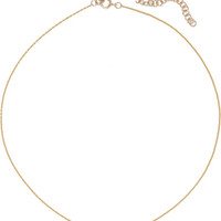 I+I - Crescent Moon 18-karat gold diamond choker