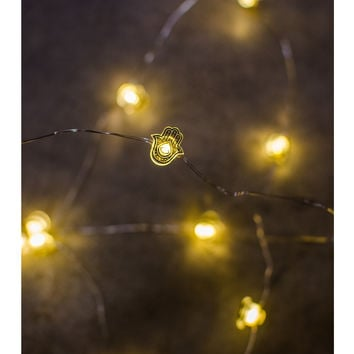 Hamsa Yellow String Lights