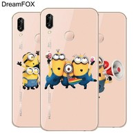 DREAMFOX L596 Minions Soft TPU Silicone  Case Cover For Huawei Honor 6A 6C 7X 9 10 P20 Lite Pro P Smart