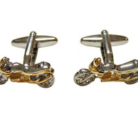 Two Toned Motorcycle Cufflinks