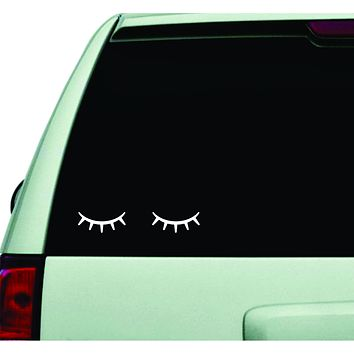 Eyelashes Wall Decal Car Truck Window Windshield JDM Sticker Vinyl Lettering Quote Boy Girl Beauty Women Make Up Lashes Brows