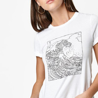 LA Hearts Wave Illustration T-Shirt at PacSun.com