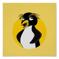 Rockhopper penguin cartoon poster