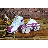 Kids Air Jordan 13 Retro Purple/White Sneaker Shoe Size US 11C-3Y