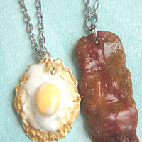 Bacon and Egg Friendship Necklace Set