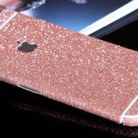 Rose Pink Sparkle Glitter Decal Wrap Skin Set iPhone 6s 6 / iPhone 6s 6 Plus