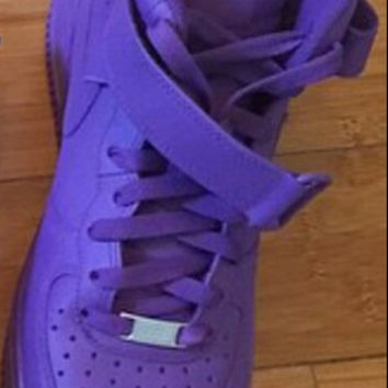 Custom Purple Nike Air Force 1