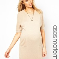 ASOS Maternity Exclusive Knitted Cocoon Sweater Dress - Sandy mink