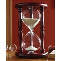 Lily's Home Hourglass Sand Timer - 20 Minute, Cherry Finish