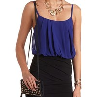 RUCHED & PLEATED COLOR BLOCK DRESS