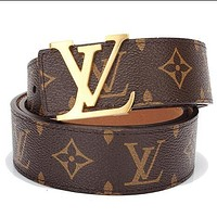 Louis Vuitton LV Trending Girls Boys Women Men Stylish Leather Smooth Buckle Belt