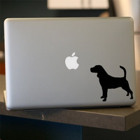 """Beagle Decal, Dog, For Laptop, Car - 4"""" WHITE (SET OF 2)"""