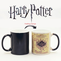 HOT sell my bottle Harry Custom Made Mugs Color Changing Cups moomin Magic heat sensitive Potter Coffee Mug Tea Ceramic LOGO Cup
