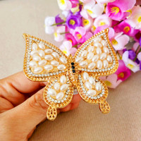 New brand 3D Alloy Butterfly Auto car air outlet conditioning vent perfume Clip