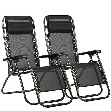 New Zero Gravity Chairs Case Of 2 Lounge Patio Chairs