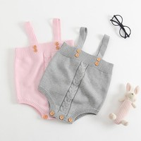 Cute Baby Girls Jumpsuits Infant Rompers Baby Toddler Overalls Button Rompers Princess Kids Clothes Rompers 2017 New