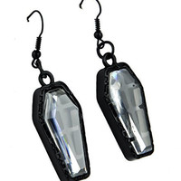 Black Coffin Earrings Catacomb Cemetery Jewelry Cosplay