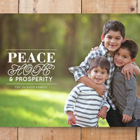 Peace, hope and prosperity Custom Stationery by at... | Minted