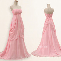 Pink prom dresses, chiffon prom dresses, prom dresses under 150, prom dresses 2014, sexy prom dresses, dresses for prom, RE431