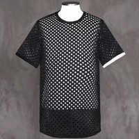 XQUARE 23 Perforated Net Short Sleeve Tee