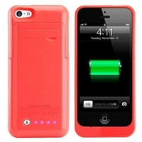 For Iphone 5 5S 5C 2200mAh Backup External Battery Charger Case Cover Power Bank