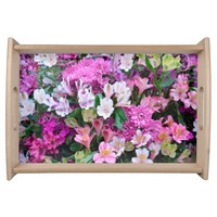 Beautiful Flower Bouquet Serving Tray