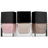 butter LONDON Pretty Neutral Nail Lacquer Trio (3 x 0.2 oz Teddy Girl/Pink Ribbon/Yummy Mummy)