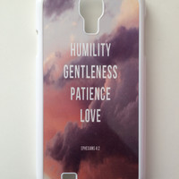Ephesians 4:2 Android Galaxy Case