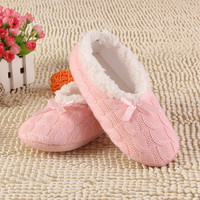 2016 New Warm Soft Sole Women Indoor Floor Slippers Shoes White Black Woolen Slippers Flannel Flat Home Slippers 7 Color XP30